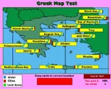 Drag the Greek Map terms to there correct location. Get a score!