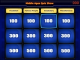 Middle Ages -Quiz Show - Interactive